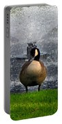 Showering Canadian Goose Portable Battery Charger