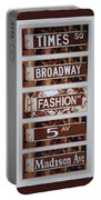 Signs Of New York Portable Battery Charger by Rob Hans
