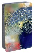 Silhouette In The Rain Portable Battery Charger