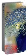 Silhouette In The Rain Portable Battery Charger by Carlos Caetano