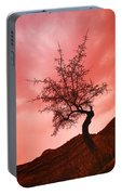 Silhouette Of Shrub Tree Portable Battery Charger