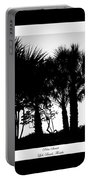 Silhouette Palm Sunset Portable Battery Charger