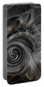 Silver Spiral Portable Battery Charger