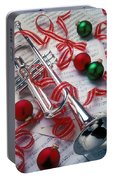 Silver Trumper And Christmas Ornaments Portable Battery Charger
