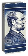 Sixteenth President Blue Portable Battery Charger