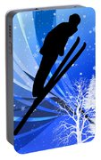 Ski Jumping In The Snow Portable Battery Charger