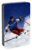 Skiing Down The Mountain Portable Battery Charger