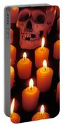 Skull And Candles Portable Battery Charger by Garry Gay