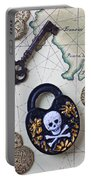 Skull And Cross Bones Lock Portable Battery Charger