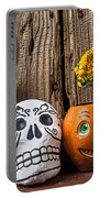 Skull And Jack-o-lantern Portable Battery Charger