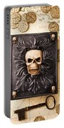 Skull Box With Skeleton Key Portable Battery Charger