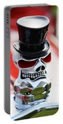 Skull With Top Hat Hood Ornament Portable Battery Charger