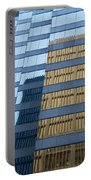 Sky Scraper Tall Building Abstract With Windows And Reflections No.0102 Portable Battery Charger