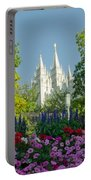 Slc Temple Flowers Portable Battery Charger