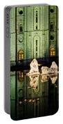 Slc Temple Nativity Portable Battery Charger by La Rae  Roberts