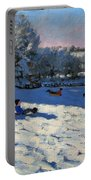 Sledging Near Youlgreave Portable Battery Charger by Andrew Macara
