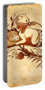 Sleeping Angel Original Coffee Painting Portable Battery Charger