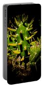 Small Green Cactus Portable Battery Charger