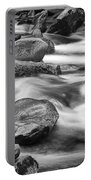 Smokey Mountain Stream Of Flowing Water Over Rocks Portable Battery Charger