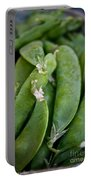 Snap Peas Please Portable Battery Charger by Susan Herber