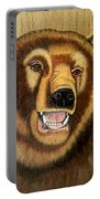 Snarling Grizzly Portable Battery Charger