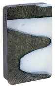 Snow Abstract Portable Battery Charger