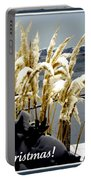 Snow Dust Christmas Card Portable Battery Charger
