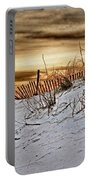 Snow Fence On Horizon Portable Battery Charger