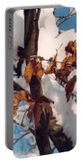 Snow On The Fall Leaves Portable Battery Charger