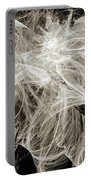 Snow Storm Abstract Portable Battery Charger