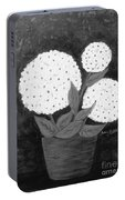 Snowball Plant B W Portable Battery Charger
