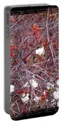 Snowberries And Rosehips Portable Battery Charger