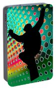 Snowboard In Cosmic Snowstorm Portable Battery Charger