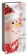 Snowman With Snowflakes  Portable Battery Charger