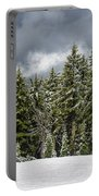 Snowstorm In The Cascades Portable Battery Charger