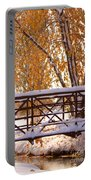 Snowy Autumn Walking Bridge Portable Battery Charger