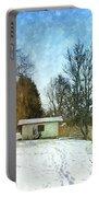 Snowy Beach Portable Battery Charger by Jutta Maria Pusl