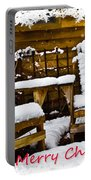 Snowy Coffee Holiday Card Portable Battery Charger