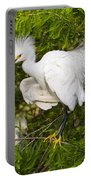 Snowy Egret In Breeding Plumage Portable Battery Charger