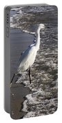 Snowy Egret Walking Portable Battery Charger