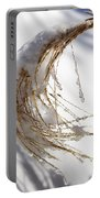 Snowy Fountain Grass Portable Battery Charger
