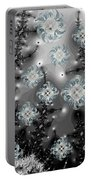 Snowy Night I Fractal Portable Battery Charger by Betsy Knapp