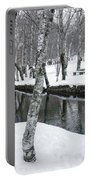 Snowy Park Portable Battery Charger by Carlos Caetano