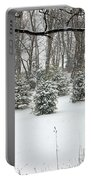 Snowy Pines Portable Battery Charger