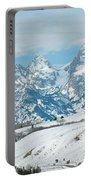 Snowy Tetons Portable Battery Charger