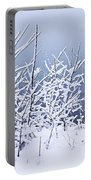Snowy Trees Portable Battery Charger