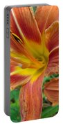 Soaking Up The Sun - Orange Daylily Portable Battery Charger