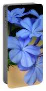 Soft Blue Plumbago  Portable Battery Charger