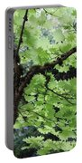 Soft Green Leaves Portable Battery Charger