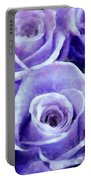Soft Lavender Roses Portable Battery Charger